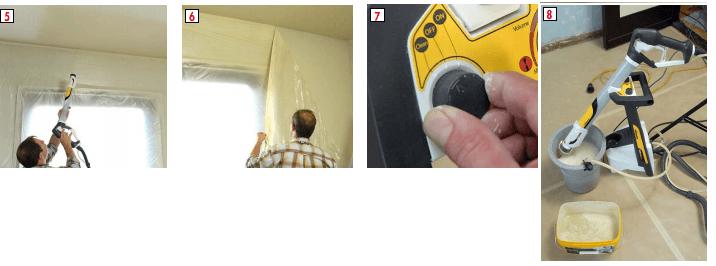 Après avoir peint les murs,  attaquez le plafond.